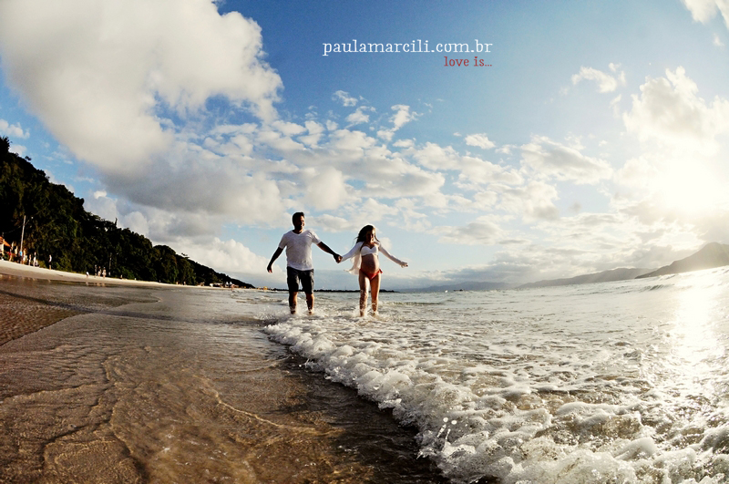 book gestante na praia